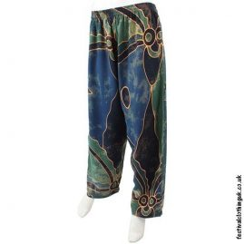 Batik-Rayon-Festival-Trousers-Green-Abstract