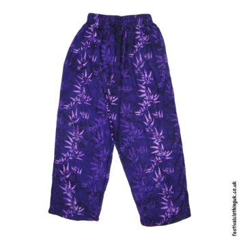 Batik-Rayon-Festival-Trousers-Purple-Bamboo