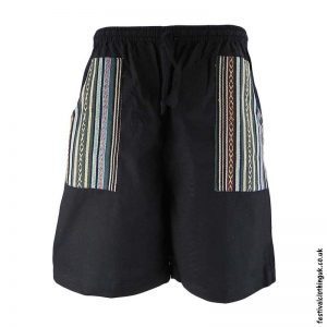 Cotton-Festival-Shorts-with-Gheri-Pocket-Black