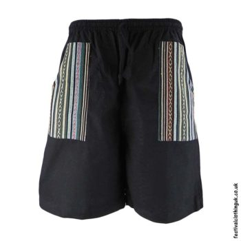 Cotton-Festival-Shorts-with-Gheri-Pocket-Black