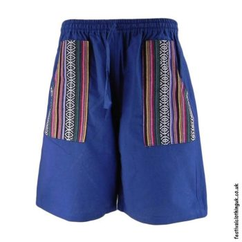 Cotton-Festival-Shorts-with-Gheri-Pocket-Blue
