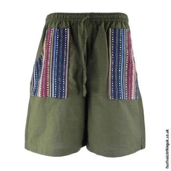 Cotton-Festival-Shorts-with-Gheri-Pocket-Green