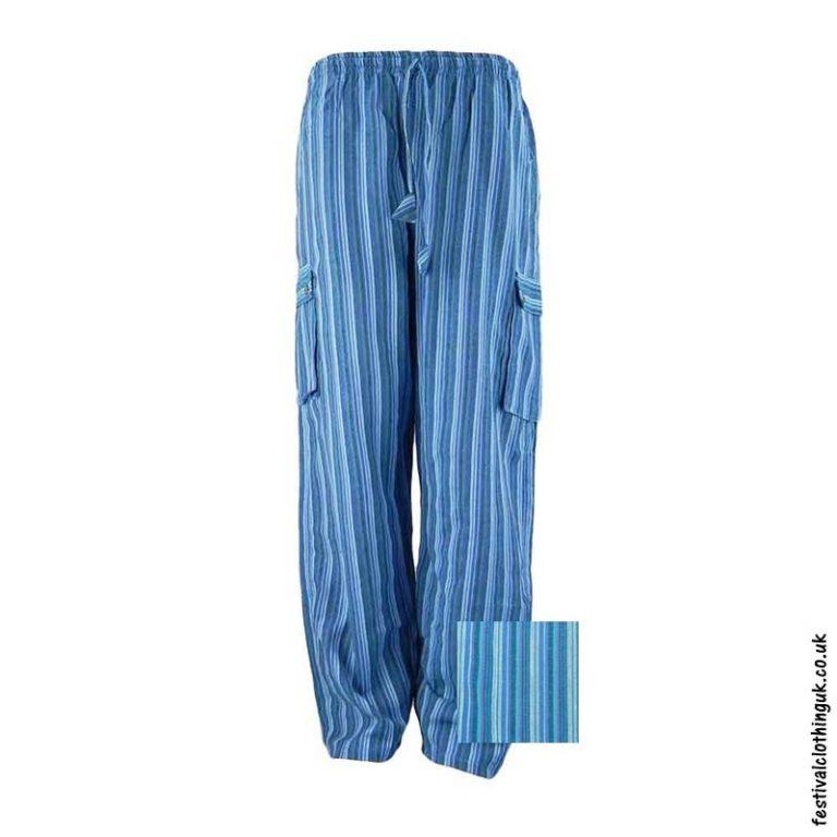 Festival-Cargo-Trousers-Striped-Blue