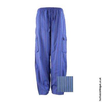 Festival-Cargo-Trousers-Striped-Blue-&-Purple