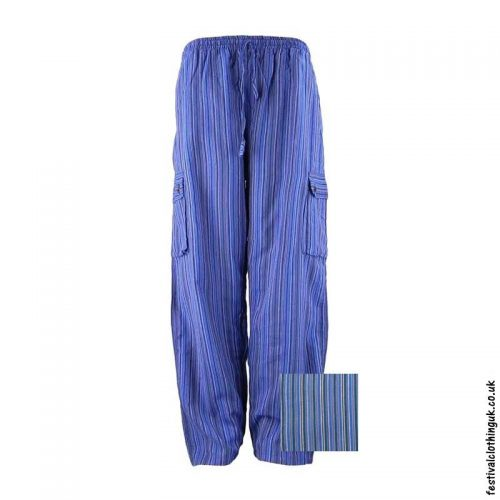 Festival-Cargo-Trousers-Striped-Blue-&-Purple