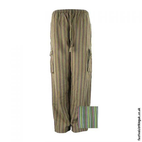 Festival-Cargo-Trousers-Striped-Green-Colour-Mix