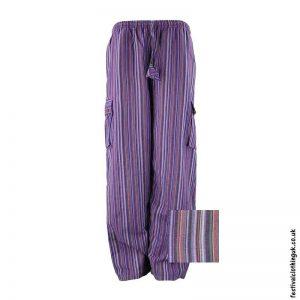 Festival-Cargo-Trousers-Striped-Purple