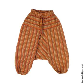 Kids-Orange-Striped-Ali-Baba-Harem-Festival-Trousers