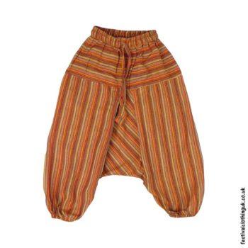 Kids-Orange-Striped-Ali-Baba-Harem-Festival-Trousers