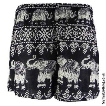 Ladies-Elephant-Festival-Shorts-Black