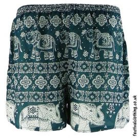 Ladies-Elephant-Festival-Shorts-Green
