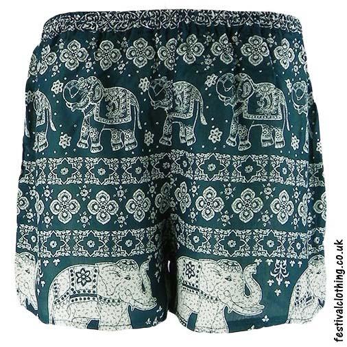 Ladies-Elephant-Festival-Shorts-Green