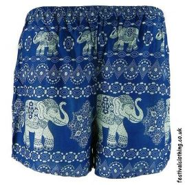 Ladies-Elephant-Festival-Shorts-Light-Blue