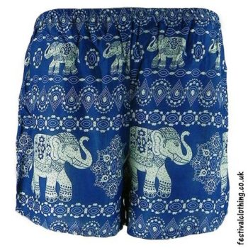 Ladies-Elephant-Festival-Shorts-Light-Blue