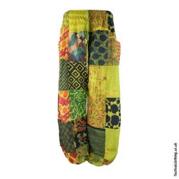 Light-Green-Patchwork-Harem-Festival-Pants