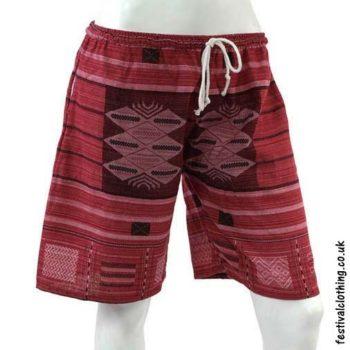 Long-Burgundy-Cotton-Festival-Shorts