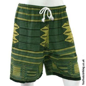 Long-Green-Cotton-Festival-Shorts