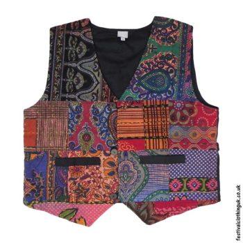 Multicoloured-Patchwork-Cotton-Festival-Waistcoat