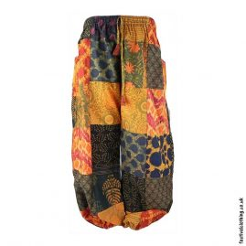Orange-Patchwork-Harem-Festival-Pants