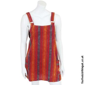 Orange-Striped-Dungaree-Festival-Dress
