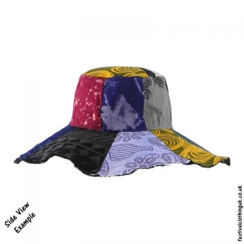 Patchwork-Brim-Festival-Hat-Side-View-Example
