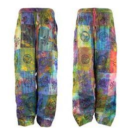 Patchwork Tie Dye Trousers