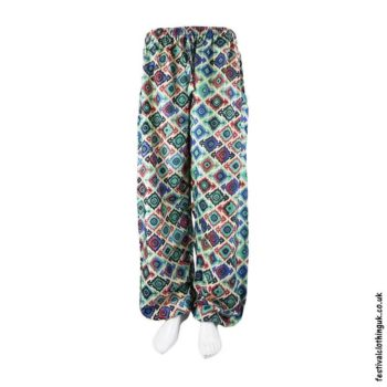Patterned-Harem-Festival-Pants-Blue