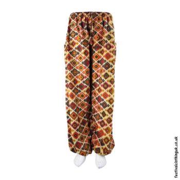Patterned-Harem-Festival-Pants-Brown