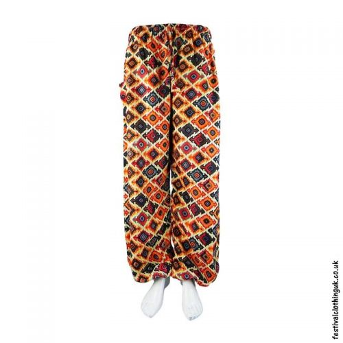 Patterned-Harem-Festival-Pants-Orange