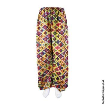 Patterned-Harem-Festival-Pants-Yellow