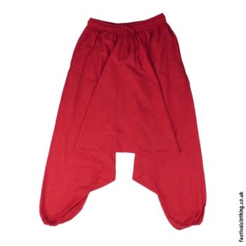 Plain-Harem-Ali-Baba-Festival-Pants-Red