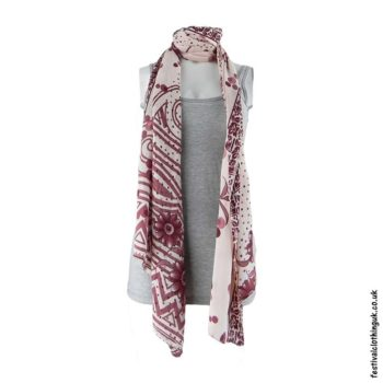 Recycled-Indian-Sari-Festival-Scarf-Pink