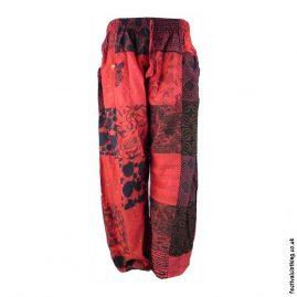 Red-Patchwork-Harem-Festival-Pants