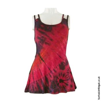 Red-Tie-Dye-Multi-Strap-Festival-Vest-Top