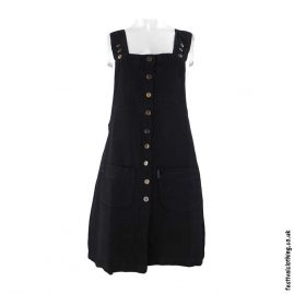 Short-Cotton-Festival-Dungaree-Dress-Black
