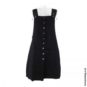 Short-Cotton-Festival-Dungaree-Dress-Black