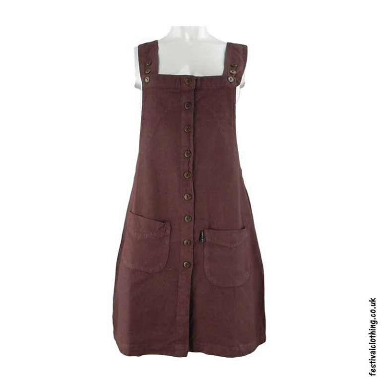 Short-Cotton-Festival-Dungaree-Dress-Brown