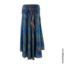 Teal-Peacock-Feather-Festival-Skirt