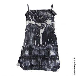 Tie-Dye-Black-Adjustable-Frill-Blouse