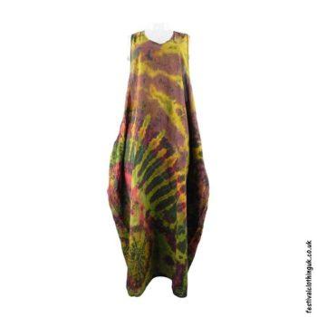 Tie-Dye-Cotton-Festival-Drape-Dress-Brown