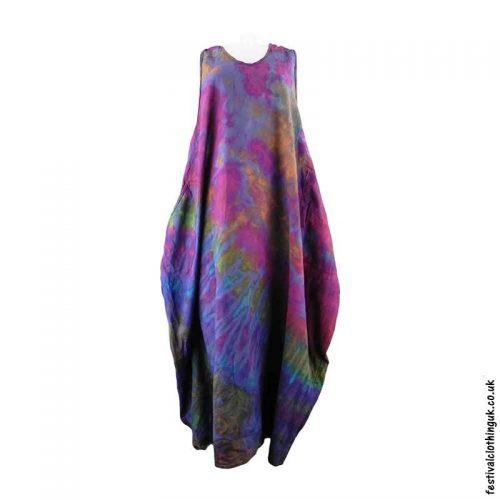 Tie-Dye-Cotton-Festival-Drape-Dress-Purple