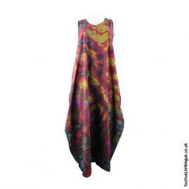 Tie-Dye-Cotton-Festival-Drape-Dress-Red