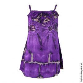 Tie-Dye-Purple-Adjustable-Frill-Blouse