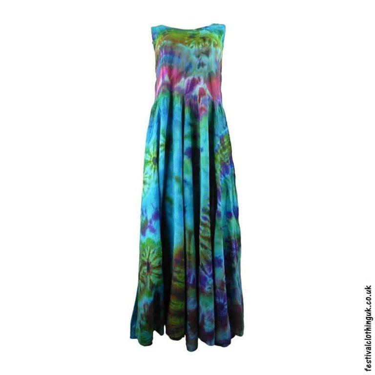 Tie-Dye-Two-in-One-Ruffle-Festival-Dress-Turquoise