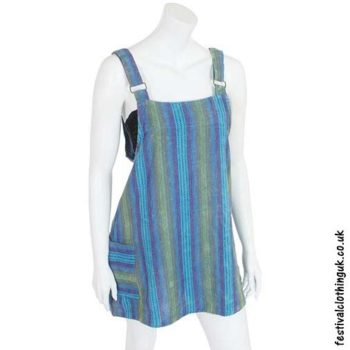 Turquoise-Striped-Dungaree-Festival-Dress
