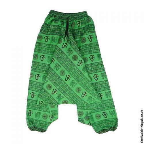 Ali-Baba-Harem-Festival-Pants-Green-Om