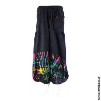 Black-Tie-Dye-Baggy-Cotton-Festival-Trousers