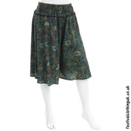 Blue Patterned Festival Culottes