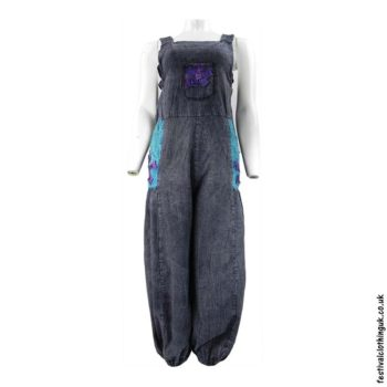 Festival-Dungarees-with-Flower-Design-Blue