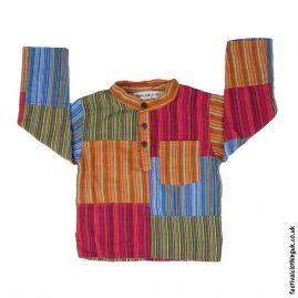 Kids-Patchwork-Festival-Collarless-Grandad-Shirt
